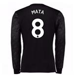 2017-18 Man Utd Away Long Sleeve Shirt (Kids) (Mata 8)