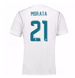 2017-18 Real Madrid Home Shirt (Morata 21)