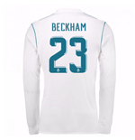 2017-18 Real Madrid Long Sleeve Home Shirt - Kids (Beckham 23)