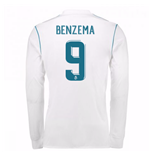 2017-18 Real Madrid Long Sleeve Home Shirt - Kids (Benzema 9)
