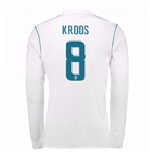 2017-18 Real Madrid Long Sleeve Home Shirt - Kids (Kroos 8)