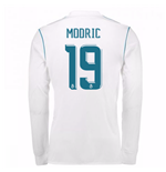 2017-18 Real Madrid Long Sleeve Home Shirt - Kids (Modric 19)