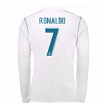 2017-18 Real Madrid Long Sleeve Home Shirt - Kids (Ronaldo 7)