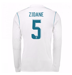 2017-18 Real Madrid Long Sleeve Home Shirt - Kids (Zidane 5)