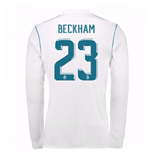 2017-18 Real Madrid Long Sleeve Home Shirt (Beckham 23)