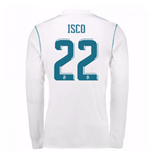2017-18 Real Madrid Long Sleeve Home Shirt (Isco 22)