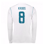 2017-18 Real Madrid Long Sleeve Home Shirt (Kroos 8)