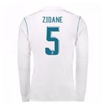 2017-18 Real Madrid Long Sleeve Home Shirt (Zidane 5)