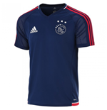 2017-2018 Ajax Adidas Training Shirt (Dark Blue) - Kids