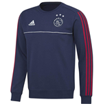 2017-2018 Ajax Adidas Sweat Top (Blue)