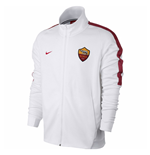 2017-2018 AS Roma Nike Authentic Franchise Jacket (White) - Kids