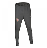 2017-2018 Arsenal Puma Fitted Training Pants with Pockets (Dark Shadow)