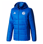 2017-2018 Schalke Adidas Winter Jacket (Blue)
