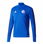 2017-2018 Schalke Adidas Training Top (Blue)