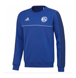 2017-2018 Schalke Adidas Sweat Top (Blue)