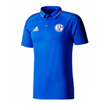 2017-2018 Schalke Adidas Polo Shirt (Blue)