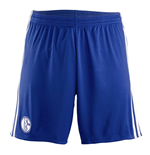 2017-2018 Schalke Adidas Away Shorts (Blue)