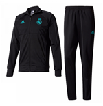2017-2018 Real Madrid Adidas Presentation Tracksuit (Black) - Kids
