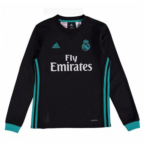 brand new f5ff8 b536f 2017-2018 Real Madrid Adidas Away Long Sleeve Shirt (Kids)