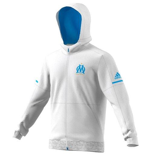 2017 2018 Marseille Adidas Anthem Jacket (White)