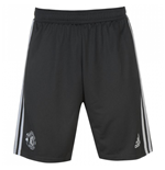 2017-2018 Man Utd Adidas Training Shorts (Night Grey)