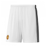 2017-2018 Man Utd Adidas Home Shorts (White)