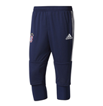 2017-2018 Bayern Munich Adidas Three Quarter Length Pants (Navy)