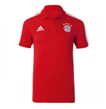 2017-2018 Bayern Munich Adidas Polo Shirt (Red)