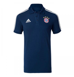 2017-2018 Bayern Munich Adidas Polo Shirt (Navy)