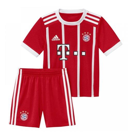 finest selection 30a84 49bb6 2017-2018 Bayern Munich Adidas Home Little Boys Mini Kit