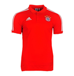 2017-2018 Bayern Munich Adidas Cotton Polo Shirt (Red)