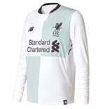 2017-2018 Liverpool Away Long Sleeve Shirt (Kids)