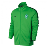 2017-2018 Werder Bremen Nike Authentic Franchise Jacket (Green)