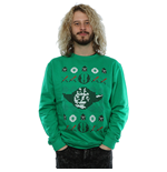Star Wars Men's Christmas Yoda Fair Isle Sweatshirt Kelly Green