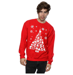 Star Wars Men's Christmas Tree Sweatshirt Red