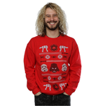 Star Wars Men's Christmas Imperial Fair Isle Sweatshirt Red
