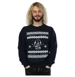 Star Wars Men's Christmas Darth Vader Fair Isle Sweatshirt Navy Blue