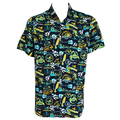 LANDSHARK Midnight Blue Aloha Shirt