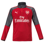 2017-2018 Arsenal Puma Training Fleece (Chilli Pepper)