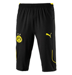 2017-2018 Borussia Dortmund Puma Three Quarter Length Pants (Black)