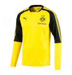 2017-2018 Borussia Dortmund Puma Long Sleeve Training Shirt (Yellow)