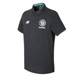2017-2018 Celtic Motion Training Polo Shirt (Black Marl)