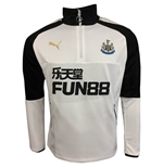 2017-2018 Newcastle Puma Quarter Zip Training Top (White)