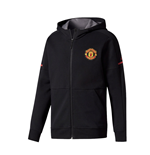 2017-2018 Man Utd Adidas Anthem Jacket (Black) - Kids