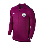 2017-2018 Man City Nike Core Trainer Jacket (True Berry)