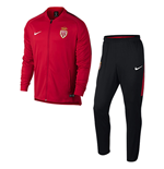 2017-2018 Monaco Nike Woven Tracksuit (Red)