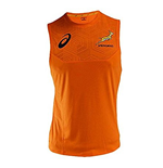 2017-2018 South Africa Springboks Players Rugby Training Singlet (Orange)