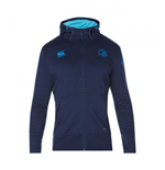 2017-2018 Leinster Rugby Fleece Full Zip Hoody (Peacot)