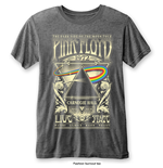 Pink Floyd Men's Fashion Tee: Carnegie Hall with Burn Out Finishing