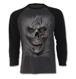 Stitched Up - Raglan Contrast Longsleeve Black Charcoal